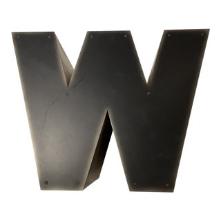Andrew Martin Iconic Large Alphabet Table - Letter W For Sale