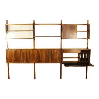 1960s Danish Modern Noral Olson for Kopenhavn Danish Style Modular Wall Unit For Sale