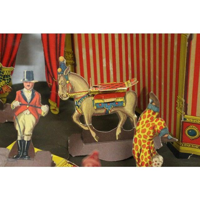 Antique 1920s Paper Circus Game Set - Image 5 of 9