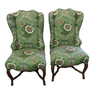 Rare! Antique Wingback Dining/Accent Chairs Circa 1800's For Sale