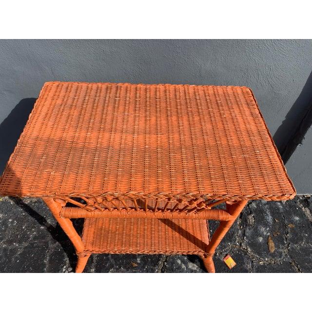 Ralph Lauren Polo Ralph Lauren Wicker Side Table For Sale - Image 4 of 8