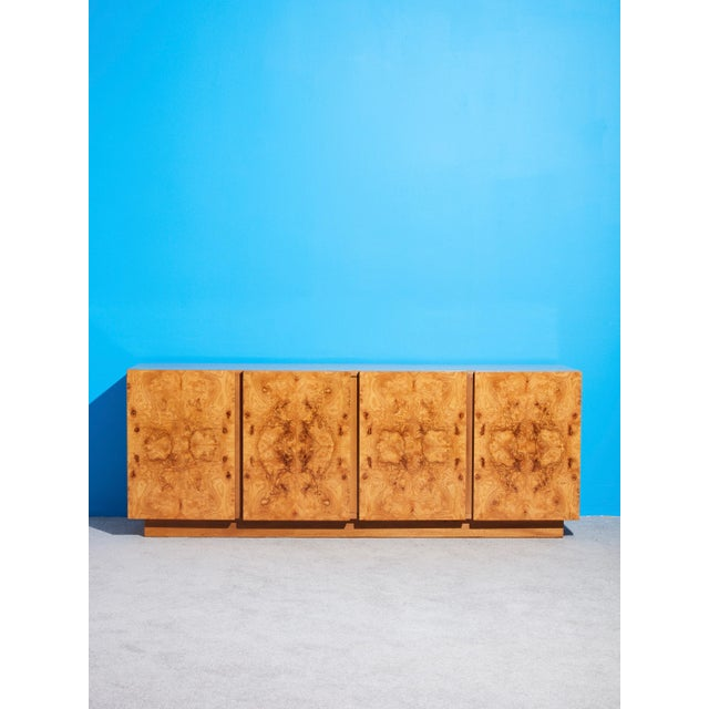 1970s 1970s Olive Burl Wood Credenza by Roland Carter for Lane For Sale - Image 5 of 5