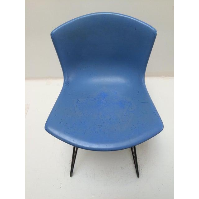 Knoll Bertoia Fiberglass Side Chair Blue - Image 8 of 11