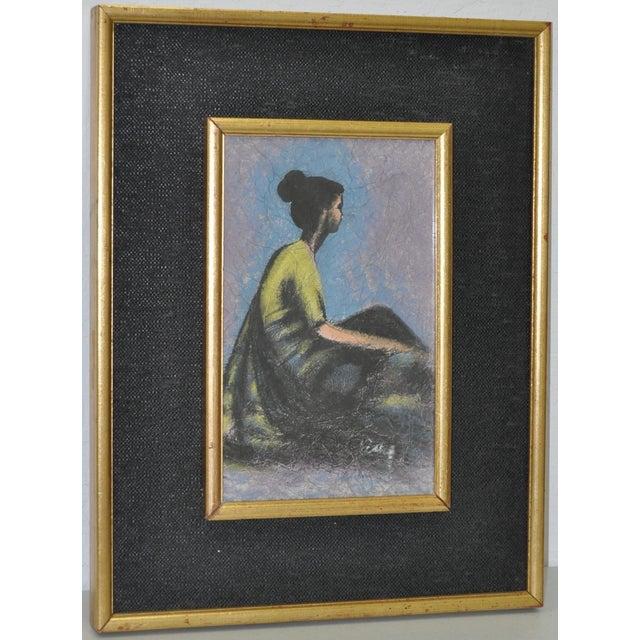 Vintage Pastel on Paper in Gilded Frame C.1950's - Image 2 of 6