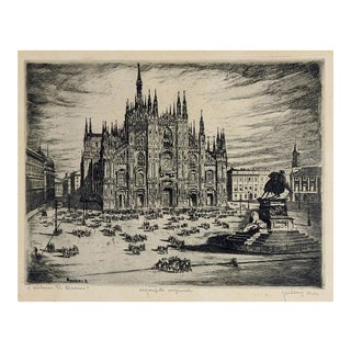 Milan Cathedral Etching For Sale