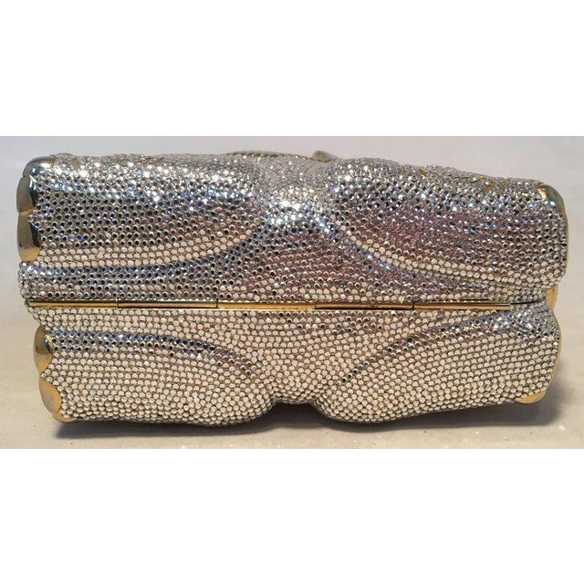 Art Nouveau Rare Judith Leiber Swarovski Crystal Elephant Minaudiere Evening Bag Clutch For Sale - Image 3 of 10