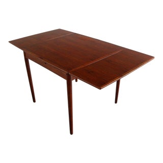 1960s Danish Modern Poul Hundevad Teak Flip-Top Dining/Game Table For Sale