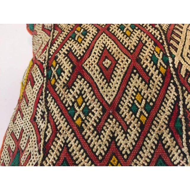African Handwoven Moroccan Tribal Berber Throw Pillow For Sale - Image 3 of 10