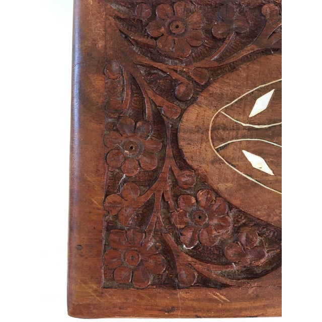 Mid 20th Century 1960s Vintage Hand Carved Wooden Box For Sale - Image 5 of 12