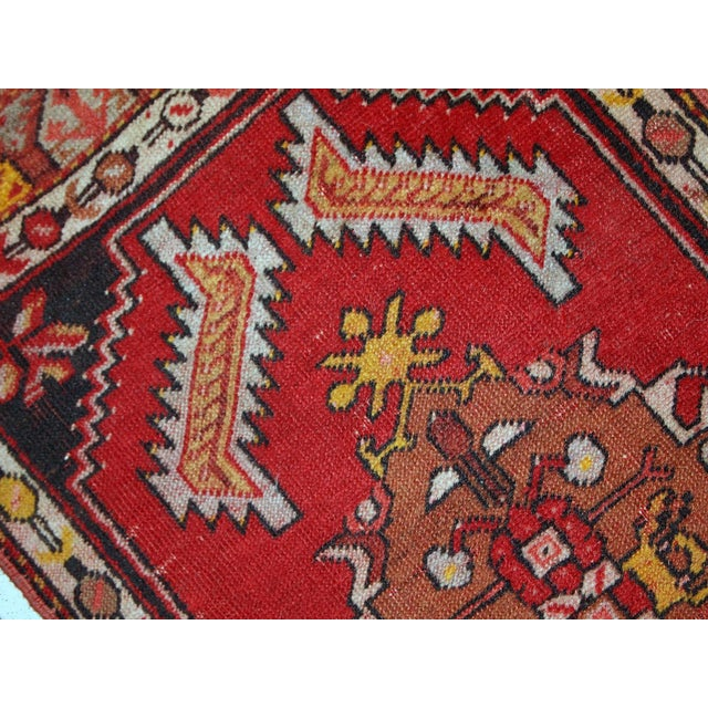 Textile 1960s, Handmade Vintage Turkish Yastik Rug 1.6' X 3.1' For Sale - Image 7 of 12