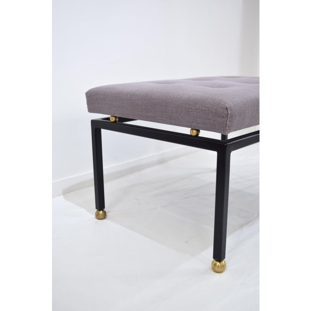 Custom CF MODERN Brass Ball Foot Bench - Image 5 of 11