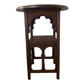 Antique Arts & Crafts Era Moorish End Table For Sale