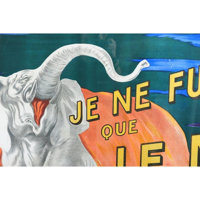 Paper Je Ne Fume Que Le Nil-Original 20s Elephant Poster For Sale - Image 7 of 10