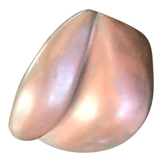 Abstract Signed Bronze Sculpture For Sale