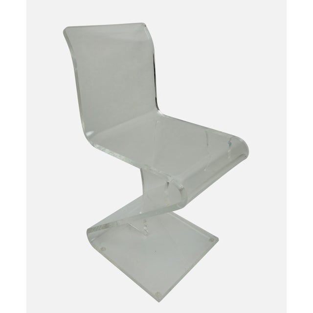 Mid-Century Modern 1970s Vintage Lucite Cantilever Accent Chair For Sale - Image 3 of 3
