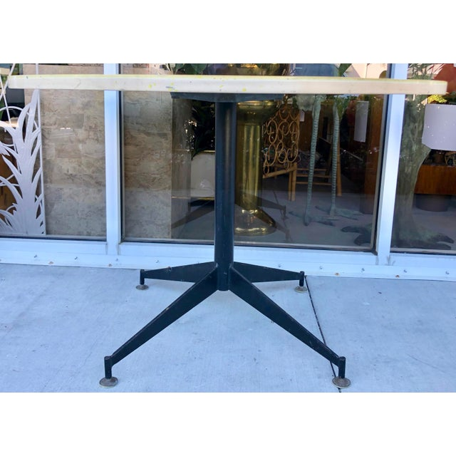 Italian Gio Ponti Style Round Dining Table For Sale - Image 3 of 8