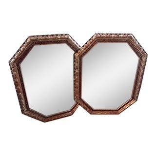 Vintage Silver Leaf Mirrors - a Pair