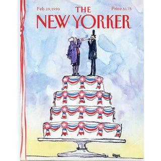 Vintage 1990 New Yorker Cover, February 19 (Robert Weber), Presidents Day For Sale