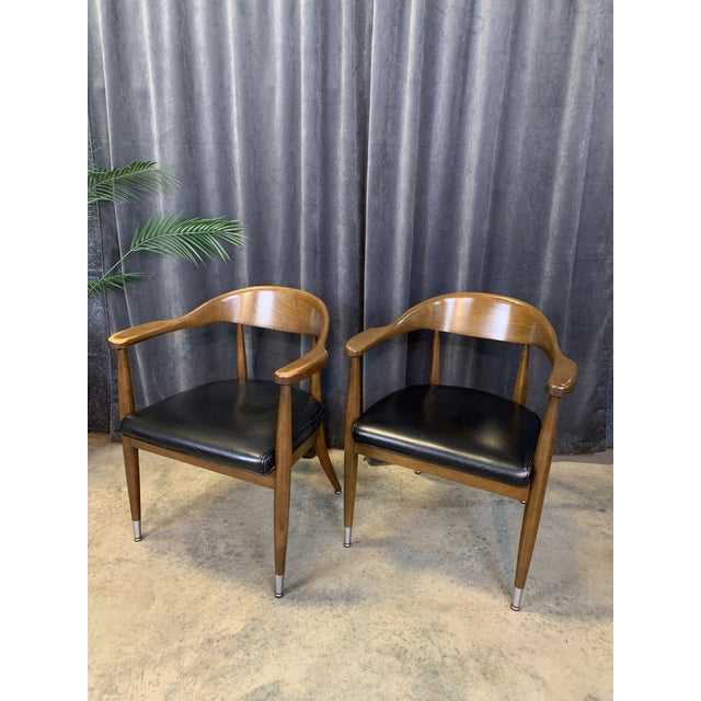 Black Mid-Century Modern Boling Chair Co. Sculptural Arm Chairs - a Pair For Sale - Image 8 of 12