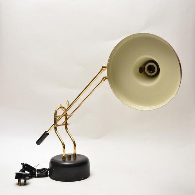 Italian Stilnovo Brass Desk Lamp For Sale - Image 3 of 8