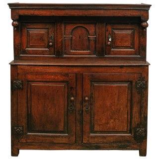 17th Century Court Cupboard in Oak For Sale
