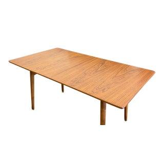 Original Vintage Hans Wegner Mid Century Modern Teak + Oak Dining Table, Denmark For Sale