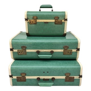 1950s Penney's Towncraft Luggage - Set of 3 For Sale