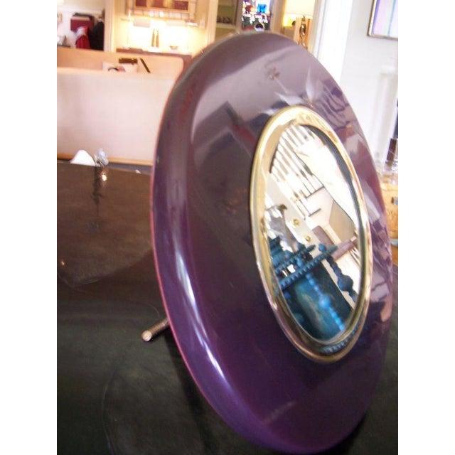 A Deco Eggplant Colored Bakelite Vanity Mirror - Image 4 of 4