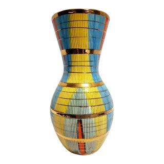 Bitossi Aldo Lodi Italian Mid Century Modern Art Pottery Yellow Vase For Sale