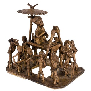 A Royal Procession, Benin, West African Bronze