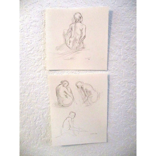 Drawing/Sketching Materials Original Figurative Artist Sketches - A Pair For Sale - Image 7 of 7