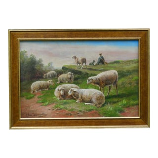 Sheep Oil on Canvas, Cornelius Van Leemputten