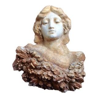 Vintage Cement Sea Goddess Aphrodite Wall Sculpture