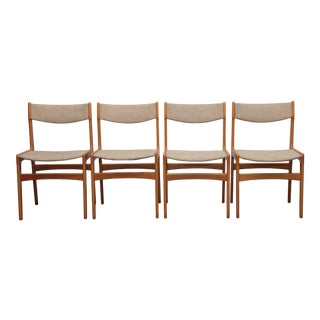 1960s Erik Buch Solid Palisander Dining Chairs, Denmark - Set of 4 For Sale