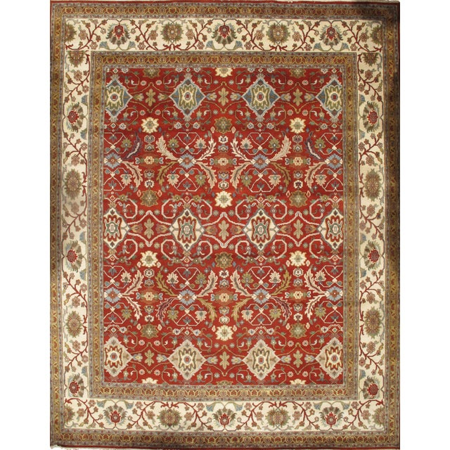 "Pasargad NY Hand-Knotted All Over Serapi Design Rug - 11'8"" x 14'10"" For Sale"