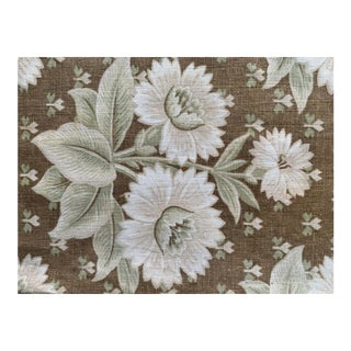 Antique French Belle Epoque Floral Fabric For Sale