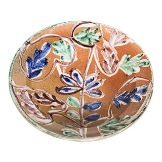 Moorish Spanish Pottery Glazed Talavera Bowl For Sale