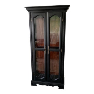 Late 20th Century Wood & Glass Cocktail Cabinet For Sale