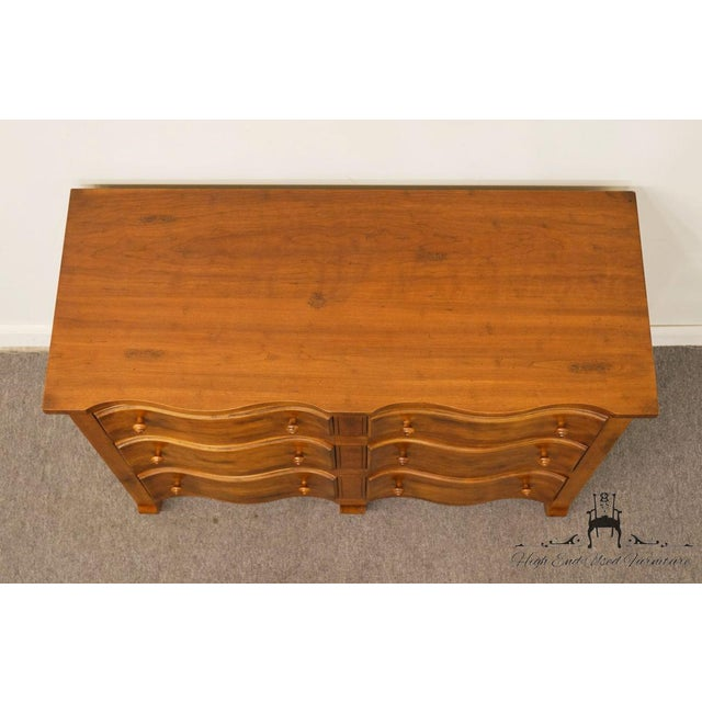 """Late 20th Century Hickory Chair Country French Fruitwood 48"""" Double Dresser For Sale - Image 5 of 13"""