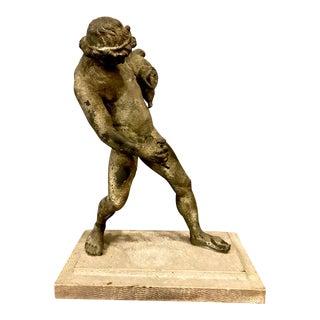 Bronze Male Nude Fountain Depicting Bacchus
