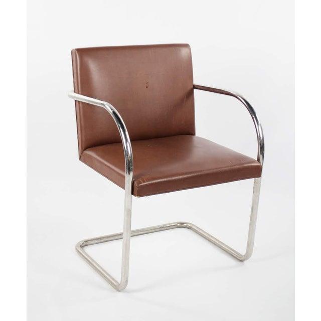 1960s Mid-Century Modern Brno Knoll International Tubular Chrome and Naugahyde Arm Chair For Sale - Image 13 of 13