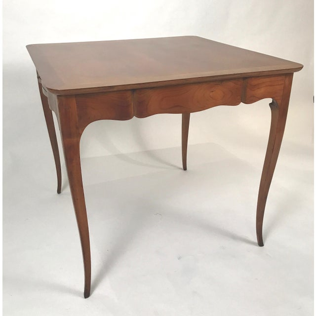 Fruitwood Two-Sided 1940s Fruitwood Carlhian Paris Decorative French Writing or Game Table For Sale - Image 7 of 10