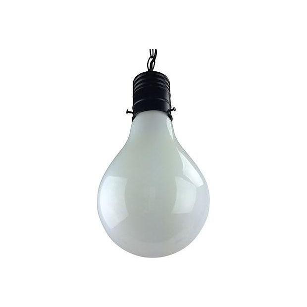 1970s Pop Art Giant Lightbulb Pendant Light For Sale - Image 4 of 5