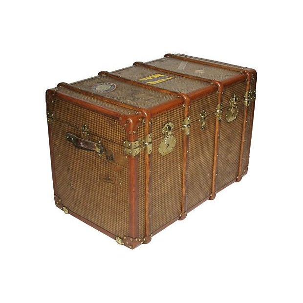 French Early 20th Century French Steamer Trunk For Sale - Image 3 of 7