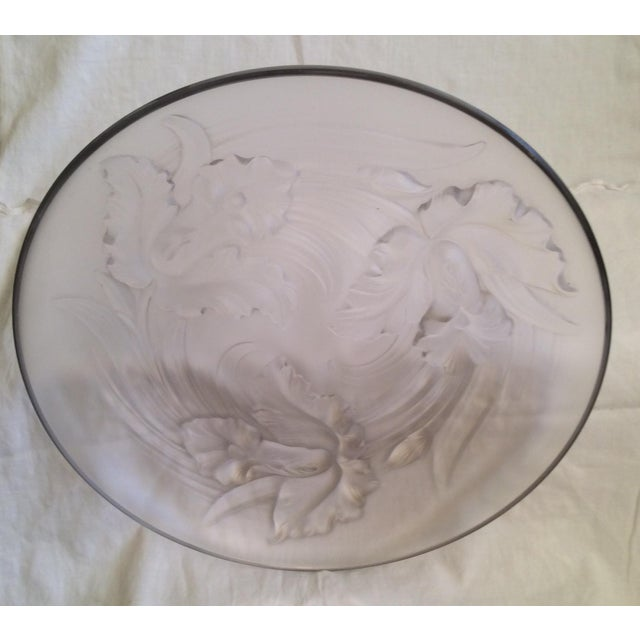 Possibly created by Czechoslovakian Josef Inwald, artist of the 1930's. Art Deco frosted glass serving platter, possibly...