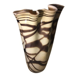 Vintage Art Deco Studio Glass Vase For Sale