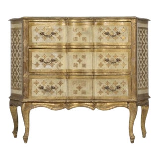 Vintage Italian Commode in Original Paint Gilding For Sale