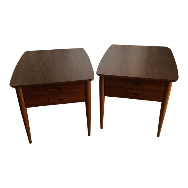 Mid-Century Lane End Tables - A Pair - Image 1 of 9