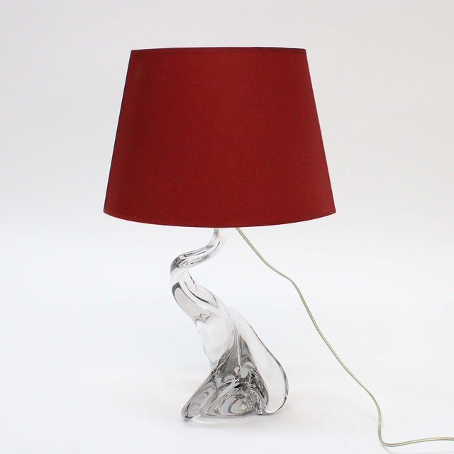 Val St Lambert Free Form Clear Table Lamp - Image 2 of 6