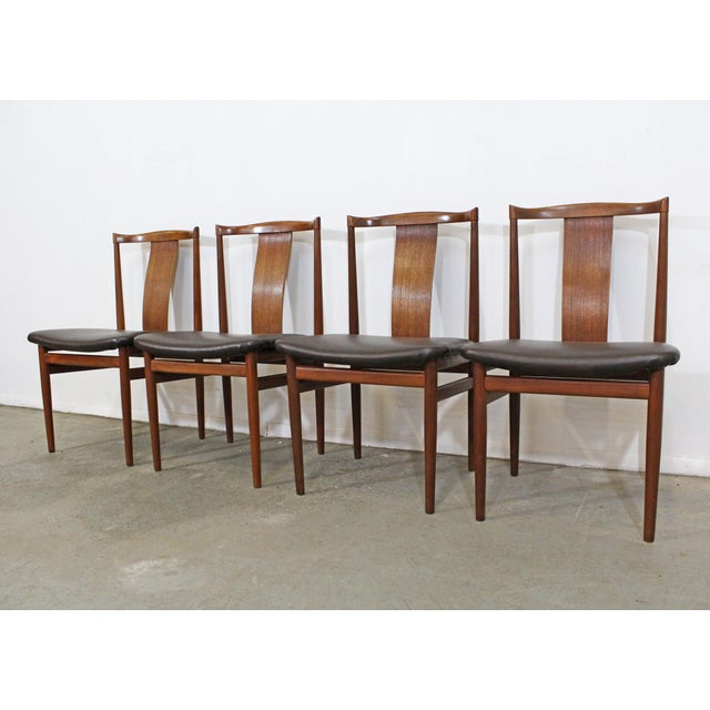 Mid-Century Modern Set of 4 Mid-Century Modern Folke Ohlsson Style Teak Dining Chairs For Sale - Image 3 of 13